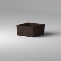 Madera Tapered Fiberglass Commercial Planter 36in.L x 36in.W x 18in.H