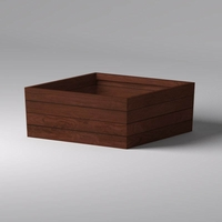 Madera Tapered Fiberglass Commercial Planter 60in.L x 60in.W x 24in.H