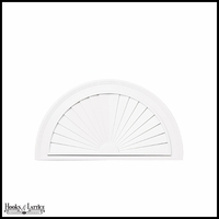 Maintenance Free Half-Round Vinyl Sunburst (4 Sizes)