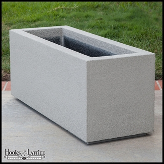 Malabar Tall Rectangular Planter with Toe Kick - White