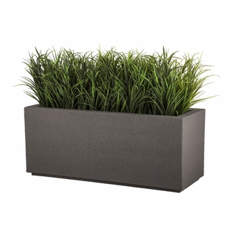 Malabar Tall Rectangular Planter with Toe Kick - Urban Graphite