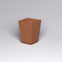 Marek Fiberglass Tapered Square Planter 30in.L x 30in.W x 42in.H