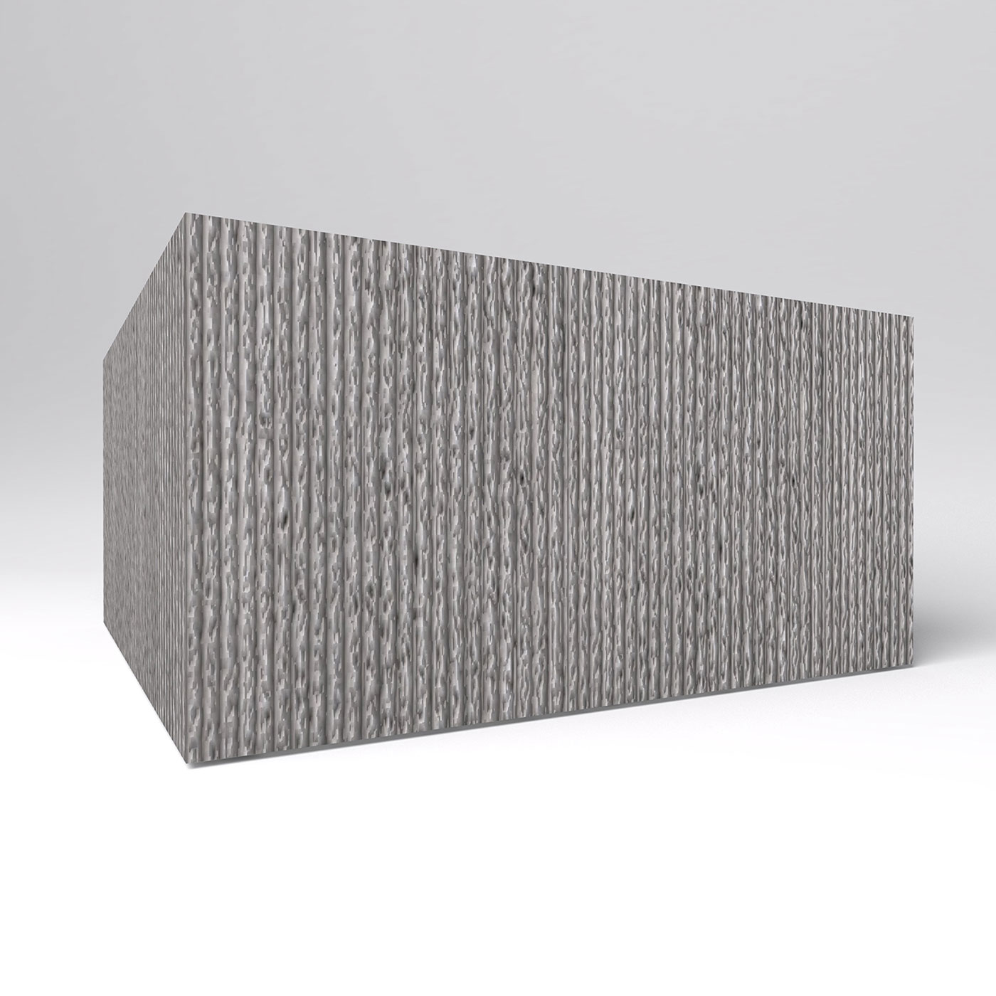 Commercial Corrugated Concrete Planters, Square | Planters Unlimited