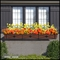 Medallion Decora Window Box with Textured Bronze Liner (Hammered Finish)