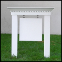 Medium Colonial Post & Panel Sign System