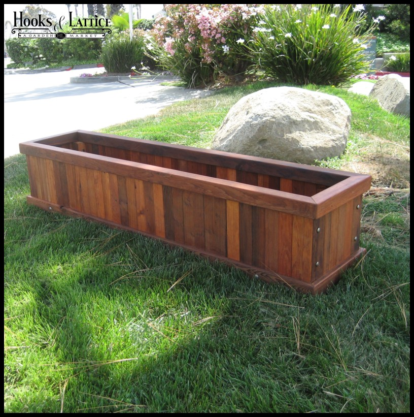 Large Redwood Planter Box For Tomatoes: Mendocino Redwood Planter, Wood Planter Boxes
