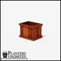 Mendocino Redwood Commercial Planter 24in.L x 18in.W x 18in.H