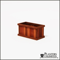 Mendocino Redwood Commercial Planter 36in.L x 18in.W x 18in.H