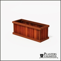 Mendocino Redwood Commercial Planter 48in.L x 18in.W x 18in.H