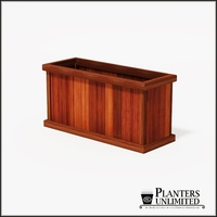 Mendocino Redwood Commercial Planter 48in.L x 18in.W x 24in.H