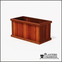Mendocino Redwood Commercial Planter 48in.L x 24in.W x 24in.H