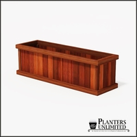 Mendocino Redwood Commercial Planter 60in.L x 18in.W x 18in.H