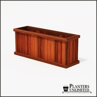 Mendocino Redwood Commercial Planter 60in.L x 18in.W x 24in.H