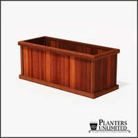 Mendocino Redwood Commercial Planter 60in.L x 24in.W x 24in.H