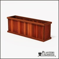 Mendocino Redwood Commercial Planter 72in.L x 18in.W x 24in.H