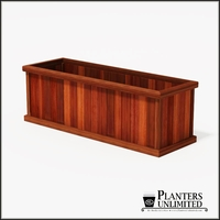 Mendocino Redwood Commercial Planter 72in.L x 24in.W x 24in.H
