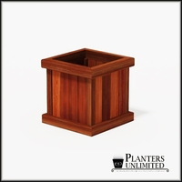 Mendocino Redwood Commercial Planter 18in.L x 18in.W x 18in.H