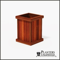 Mendocino Redwood Commercial Planter 18in.L x 18in.W x 24in.H