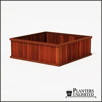 Mendocino Redwood Commercial Planter 36in.L x 36in.W x 18in.H