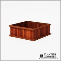 Mendocino Redwood Commercial Planter 48in.L x 48in.W x 18in.H