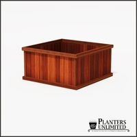 Mendocino Redwood Commercial Planter 48in.L x 48in.W x 24in.H