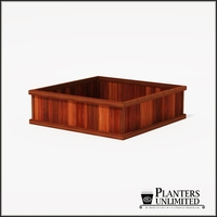 Mendocino Redwood Commercial Planter 60in.L x 60in.W x 18in.H