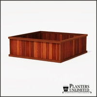 Mendocino Redwood Commercial Planter 72in.L x 72in.W x 24in.H