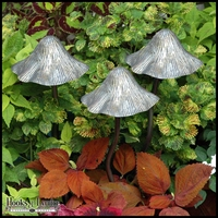 Metal Tippy Toadstool Garden Mushrooms - Small Antique Gold