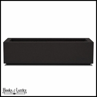 Regatta Short Trough Planter with Toe Kick - Black