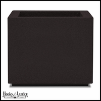 Malaga Square Planter with Toe Kick - Black