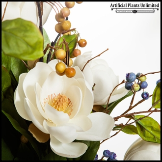 Mini Magnolia with Blueberries Cotton Arrangement