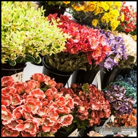 Mixed Bag of 120 Assorted Artificial Silk Flowers