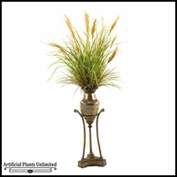 Mixed Grasses in Planter with Stand, 5'