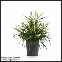 Mixed Grasses in Resin Planter, 34 in.