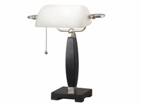 Modern Bankers Lamp Task Light - Black & Brushed Steel