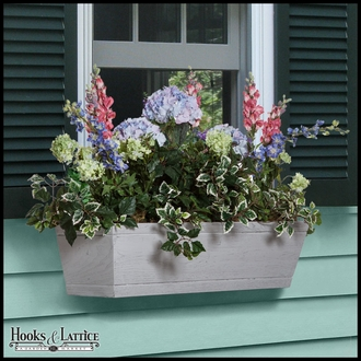 72in. Modern Farmhouse Window Box - Distressed Driftwood Finish