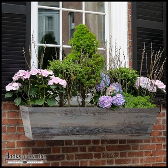 60in. Modern Farmhouse Window Box - Distressed Reclaimed Finish