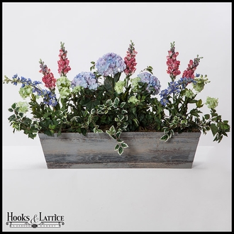 54in. Modern Farmhouse Window Box - Distressed Reclaimed Finish