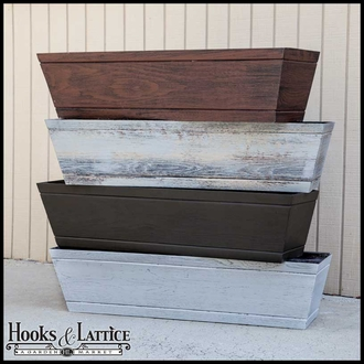 Modern Farmhouse Window Boxes - Reclaimed Dark Hickory