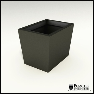 Modern Tapered Fiberglass Commercial Planter 24in.L x 18in.W x 18in.H