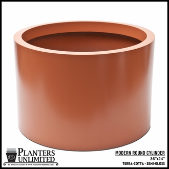 Modern Round Commercial Planter 36in.Dia. 24in.H