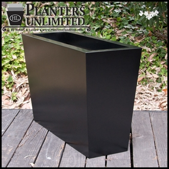 Modern Tapered Fiberglass Commercial Planter 36in.L x 18in.W x 18in.H