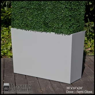 Modern Tapered Fiberglass Commercial Planter 36in.L x 18in.W x 24in.H