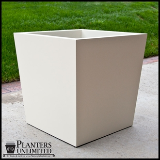 Modern Tapered Fiberglass Commercial Planter 36in.L x 24in.W x 24in.H