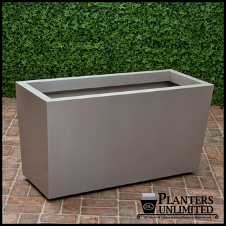 Modern Tapered Fiberglass Commercial Planter 48in.L x 24in.W x 24in.H