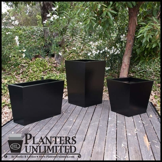 Modern Tapered Fiberglass Commercial Planter 48in.L x 30in.W x 24in.H