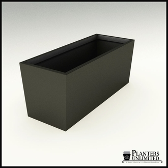 Modern Tapered Fiberglass Commercial Planter 60in.L x 24in.W x 24in.H