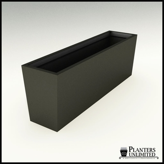 Modern Tapered Fiberglass Commercial Planter 72in.L x 18in.W x 24in.H