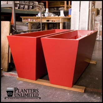 Modern Tapered Fiberglass Commercial Planter 96in.L x 30in.W x 24in.H