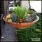 18in. Modern Low Bowl Hanging Basket